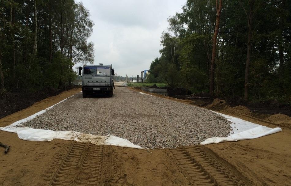 Геотекстиль для строительства дороги