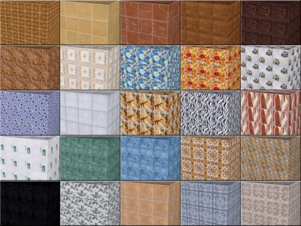 различные цвета керамической плитки