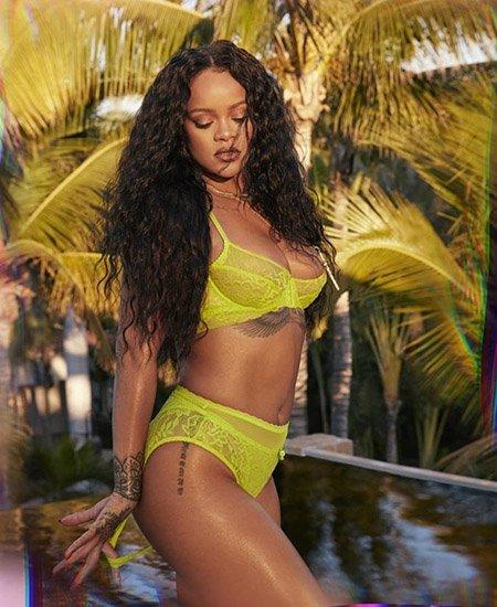 Рианна снялась в новой рекламе своего бренда нижнего белья