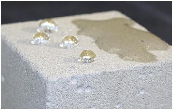 Гидрофобный пористый бетон
