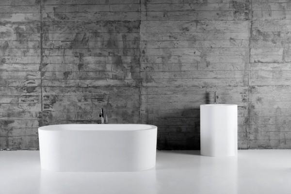 Микроцемент в качестве отделки стен ванной