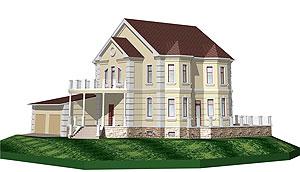 Готовый бесплатный проект строительства частного загородного двухэтажного дома из кирпича: общие технические требования, архитектурно планировочные и конструктивные решения - скачать проект кирпичного дома, фото