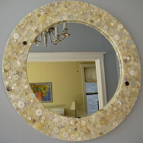 Как оформить зеркало своими руками