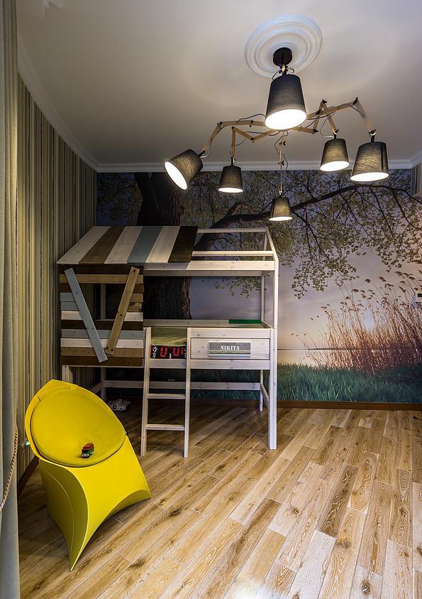 Классический интерьер с мосрскими мотивами в ЖК Дом на Фрунзенской