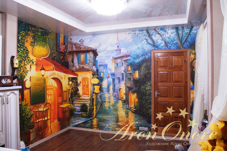 Рисунок на стенах, создающий интерьер