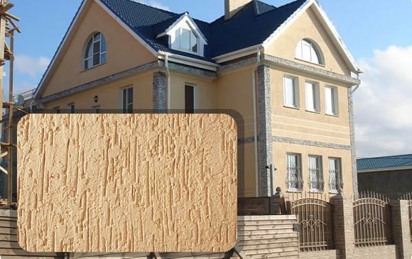 Штукатурка-короед-оригинальная-отделка-для-стен-и-фасадов-домов-13