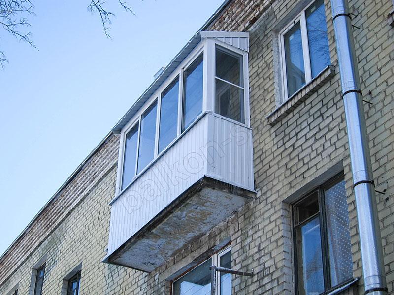 Установка крыши на балконе и лоджии